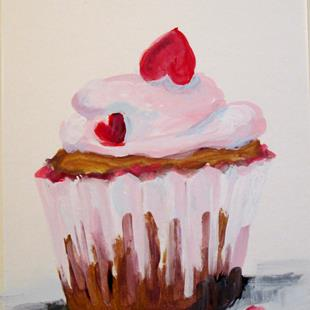 Art: Valentine Cupcake by Artist Delilah Smith