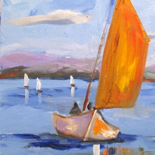 Art: Sailboat No.10 by Artist Delilah Smith