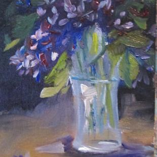 Art: Vase of Lilacs by Artist Delilah Smith