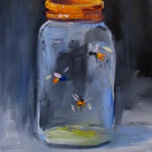 Art: Fireflies in a Jar by Artist Delilah Smith