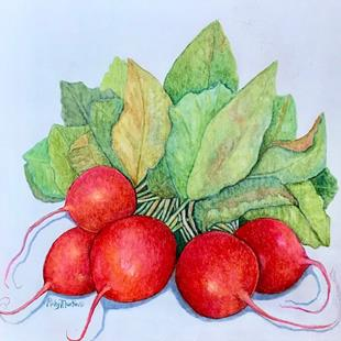 Art: Radishes by Artist Ulrike 'Ricky' Martin