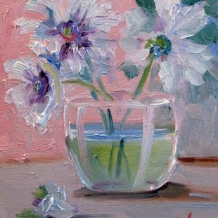 Art: White Floral Still Life by Artist Delilah Smith
