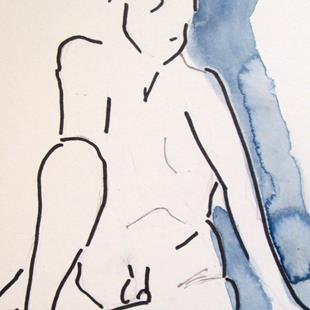 Art: Male Nude No. 2 by Artist Delilah Smith