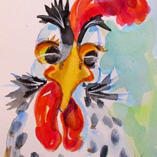 Art: Rooster No. 40 by Artist Delilah Smith