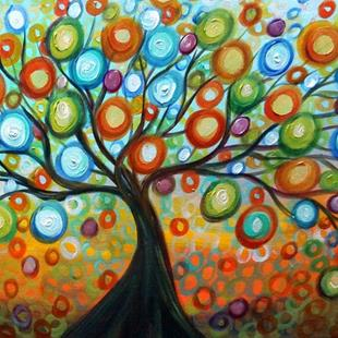 Art: Tree of Life by Artist LUIZA VIZOLI