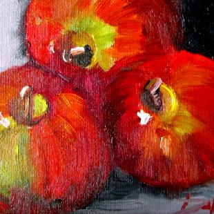 Art: Three Apples, No 23 in Series by Artist Delilah Smith
