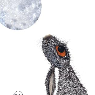 Art: MOONGAZING HARE h2247 by Artist Dawn Barker