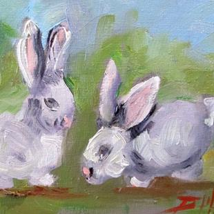 Art: Bunnies by Artist Delilah Smith