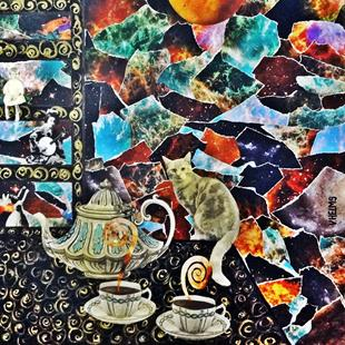 Art: Spilling the Tea by Artist Vicky Helms