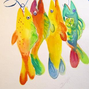 Art: Big Boys,Fish by Artist Delilah Smith