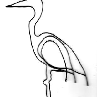 Art: Great Blue Heron wire sculpture by Leonard G. Collins by Artist Leonard G. Collins