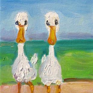 Art: Two Ducks by Artist Delilah Smith
