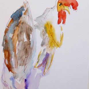 Art: Rooster No. 43 by Artist Delilah Smith