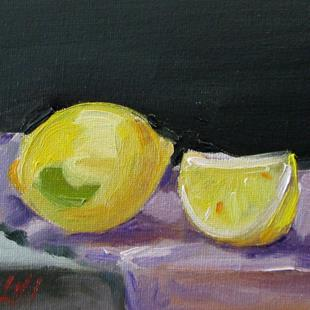 Art: Lemon Still Life No. 3 by Artist Delilah Smith