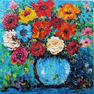 Art: Impasto Bouquet - sold by Artist Ulrike 'Ricky' Martin