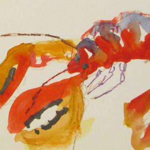 Art: Lobster Aceo No. 2 by Artist Delilah Smith