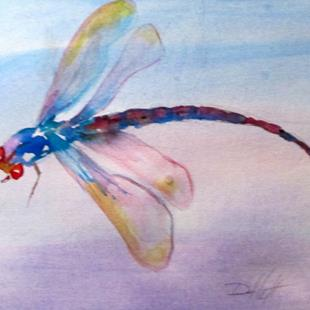 Art: Dragonfly No. 15 by Artist Delilah Smith