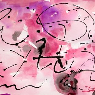 Art: Pink Jackson Pollock by Artist Delilah Smith