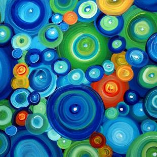 Art: CIRCLES in MOTION by Artist LUIZA VIZOLI