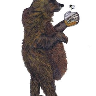 Art: BEAR WITH HONEY br109 by Artist Dawn Barker