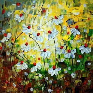 Art: DAISY Summer Flowers by Artist LUIZA VIZOLI