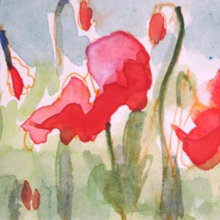 Art: Garden of Poppies by Artist Delilah Smith