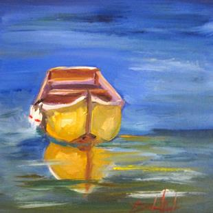 Art: Row Boat No. 7 by Artist Delilah Smith