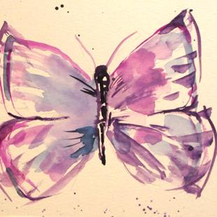 Art: Butterfly No. 4 by Artist Delilah Smith