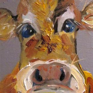 Art: Cow No. 12 by Artist Delilah Smith
