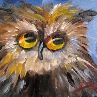 Art: Owl No. 13 by Artist Delilah Smith