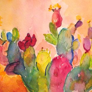 Art: Cactus No. 11 by Artist Delilah Smith