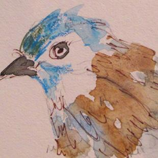 Art: Bluebird by Artist Delilah Smith