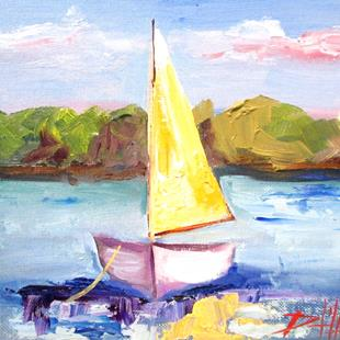 Art: Yellow Sail by Artist Delilah Smith