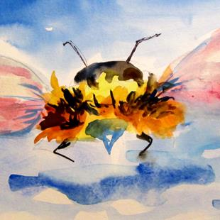 Art: Bumble Bee No. 2 by Artist Delilah Smith