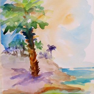 Art: Tropical Palm Tree by Artist Delilah Smith