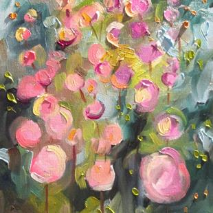 Art: Hollyhocks No. 3 by Artist Delilah Smith
