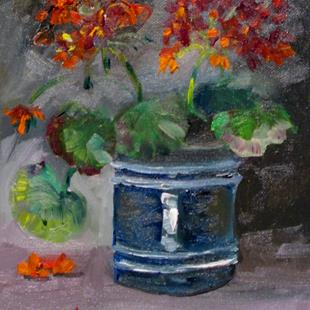 Art: Geraniums No. 7 by Artist Delilah Smith
