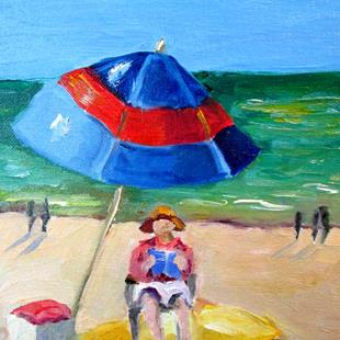 Art: Beach Read No. 4 by Artist Delilah Smith