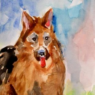 Art: German Shepard by Artist Delilah Smith