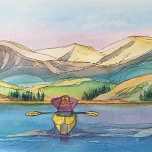 Art: Relax  (sold) by Artist Kathy Crawshay
