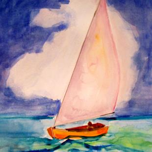 Art: Sailing with the clouds by Artist Delilah Smith
