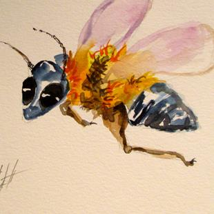 Art: Bee No. 6 by Artist Delilah Smith