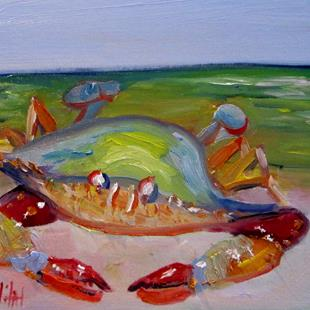 Art: Blue Crab No. 20 by Artist Delilah Smith