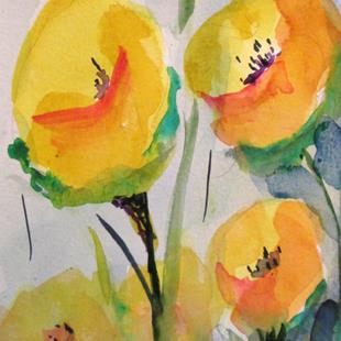 Art: Yellow Flowers No. 2 by Artist Delilah Smith