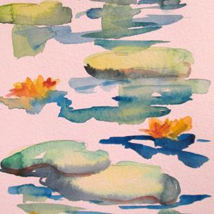Art: Lily Pads No. 4 by Artist Delilah Smith