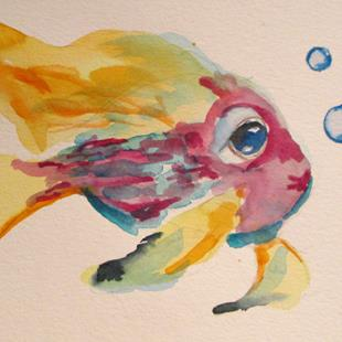 Art: Fish No. 4 by Artist Delilah Smith