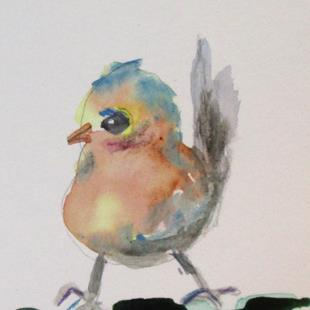Art: Aceo Robin by Artist Delilah Smith