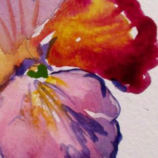 Art: Pansy Aceo by Artist Delilah Smith