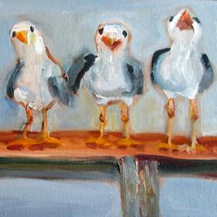 Art: Three Gulls No. 2 by Artist Delilah Smith
