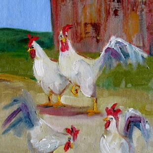 Art: Chickens No. 7 by Artist Delilah Smith